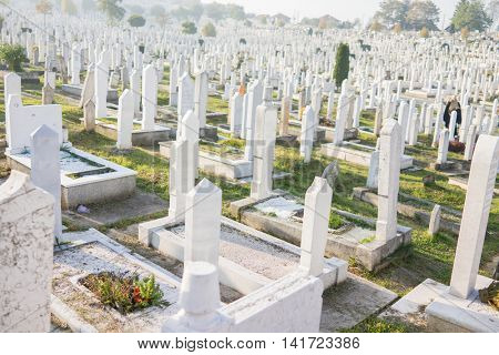 Graves at Muslim cemetery