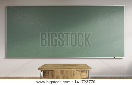 Chalkboard And School Table