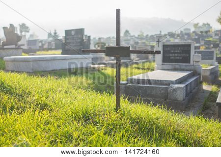 Graves at cemetery