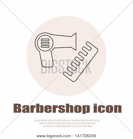 Linear barbershop icons set. Universal hairstyle icon to use in web and mobile UI, basic elements