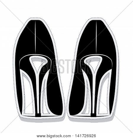 heel shoes wear female isolated icon vector illustration design