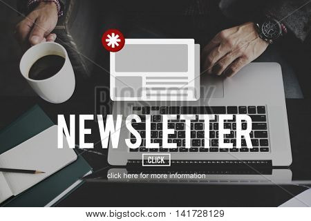 News Newsletter Announcement Update Information Concept