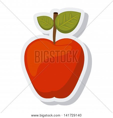 apple fresh isolated icon vector illustration design