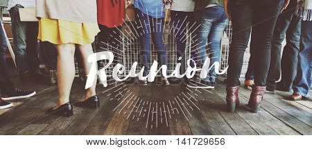 Reunion Support Community Teamwork Together Concept