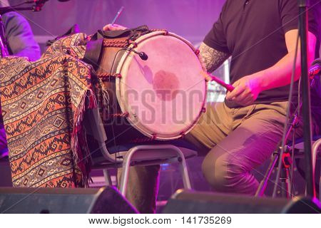 Percussionist During A Free Concert