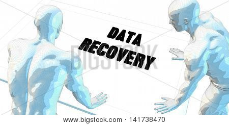 Data Recovery Discussion and Business Meeting Concept Art 3d Render