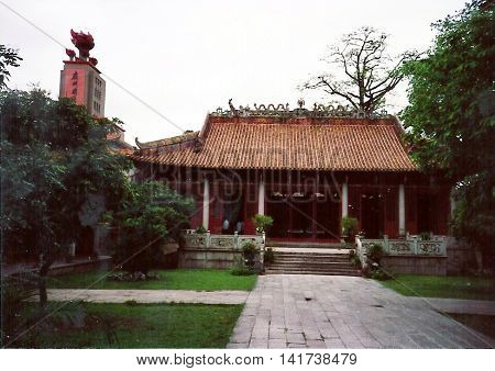 GUANGZHOU / CHINA - CIRCA 1987: The Peasant Movement Training Institute, which operated from 1923 to 1926, was based in a 14th-century Confucian temple, which now houses a museum of Guangzhou's revolutionary past.
