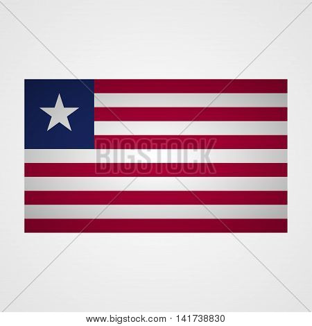 Liberia flag on a gray background. Vector illustration