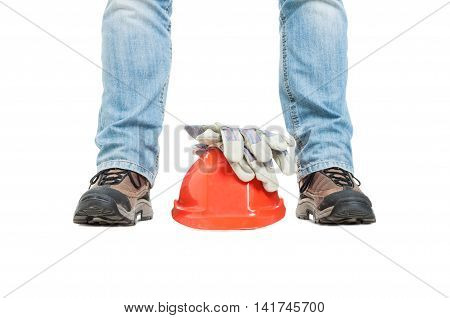 Concept Of Building With Workman And Safety Equipment