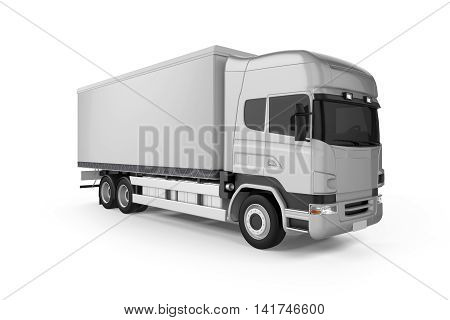 Big Truck Background - Blank mockup for design - 3D illustration