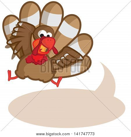 This file represents a turkey saying something in an empty balloon.