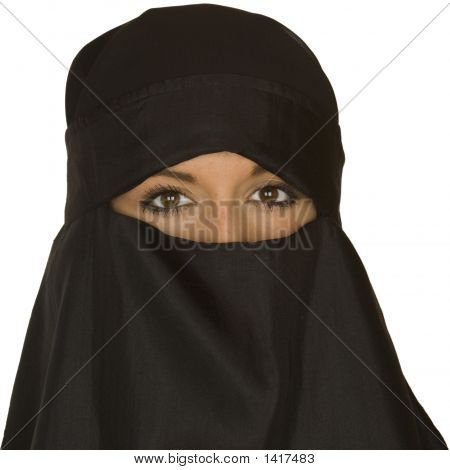 Beautiful Woman In A Niqab Veil