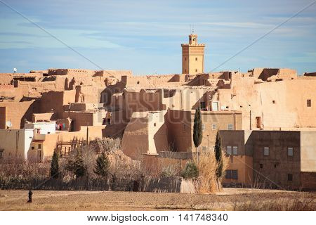 Typical buildings in the old village, south of the city Errachidia, Province Errachidia, eastern Morocco.