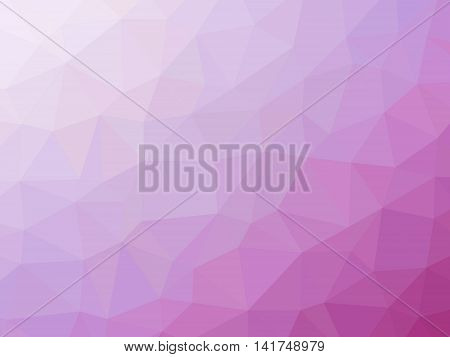 Abstract Pink Magenta Gradient Low Polygon Shaped Background