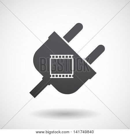 Isolated Male Plug With   A Photographic 35Mm Film Strip