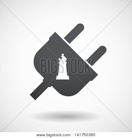 Isolated Male Plug With A Bishop    Chess Figure