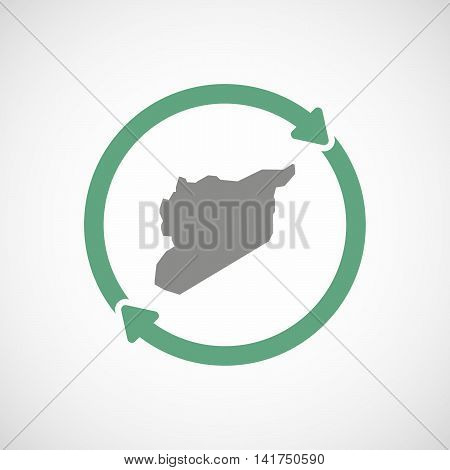 Isolated Reuse Icon With  The Map Of Syria