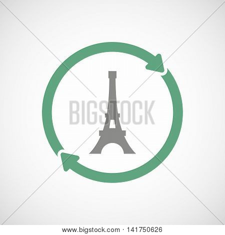 Isolated Reuse Icon With   The Eiffel Tower