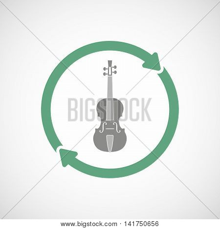 Isolated Reuse Icon With  A Violin