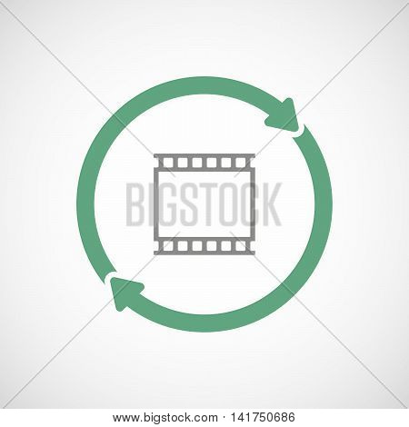 Isolated Reuse Icon With   A Photographic 35Mm Film Strip