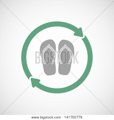 Isolated Reuse Icon With   A Pair Of Flops