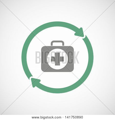 Isolated Reuse Icon With  A First Aid Kit Icon