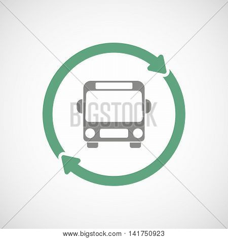 Isolated Reuse Icon With  A Bus Icon