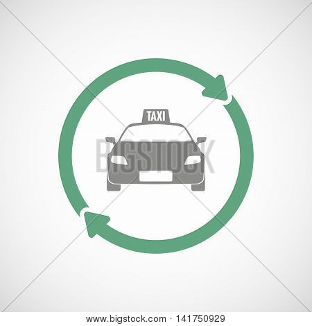 Isolated Reuse Icon With  A Taxi Icon