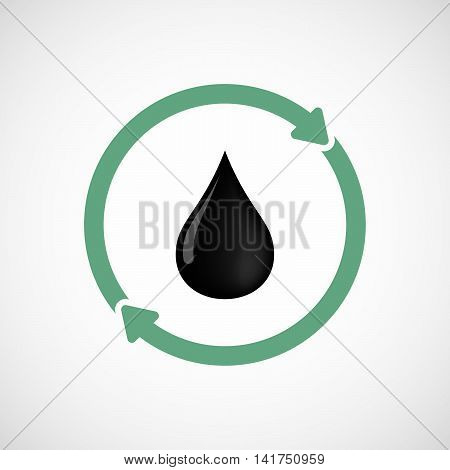 Isolated Reuse Icon With  An Oil Drop Icon