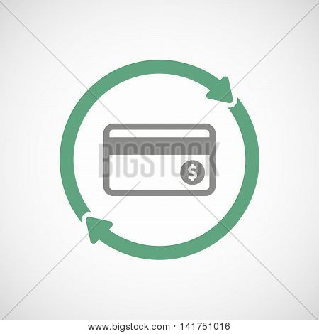 Isolated Reuse Icon With  A Credit Card