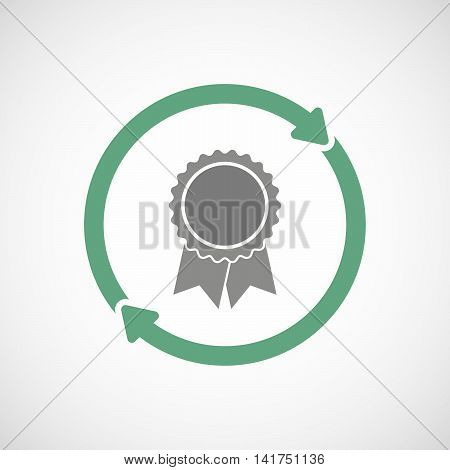 Isolated Reuse Icon With  A Ribbon Award