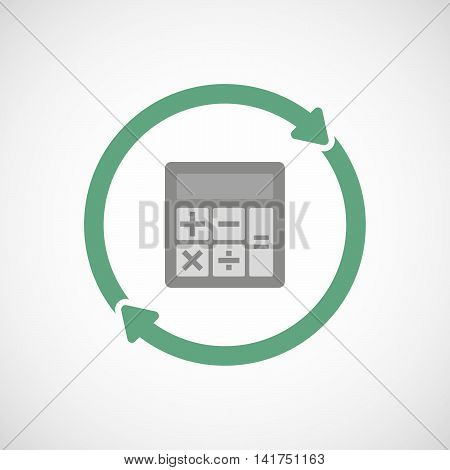 Isolated Reuse Icon With  A Calculator