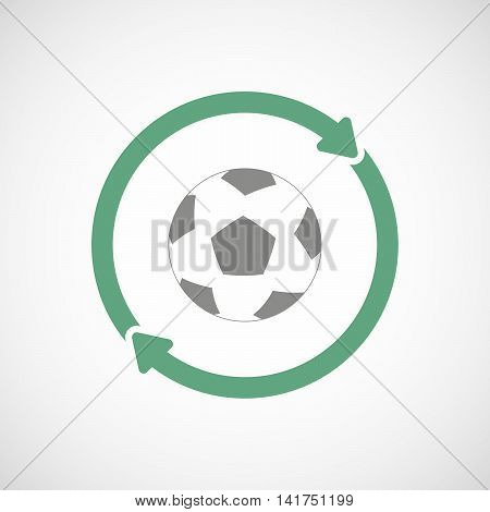 Isolated Reuse Icon With  A Soccer Ball
