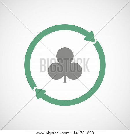 Isolated Reuse Icon With  The  Club  Poker Playing Card Sign