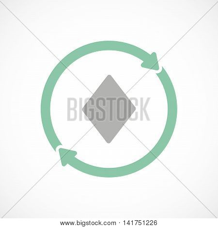 Isolated Reuse Icon With  The  Diamond  Poker Playing Card Sign