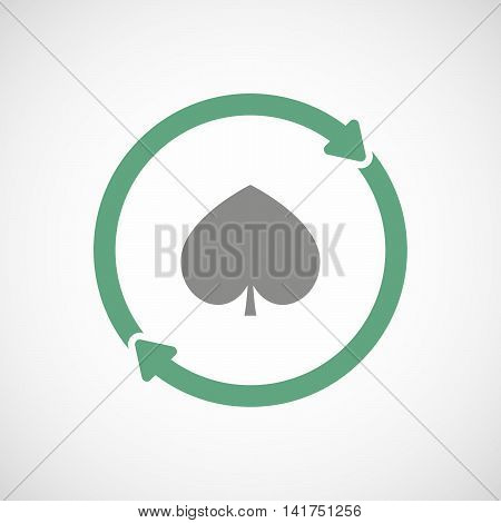 Isolated Reuse Icon With  The  Spade  Poker Playing Card Sign