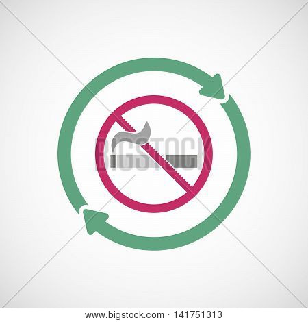 Isolated Reuse Icon With  A No Smoking Sign