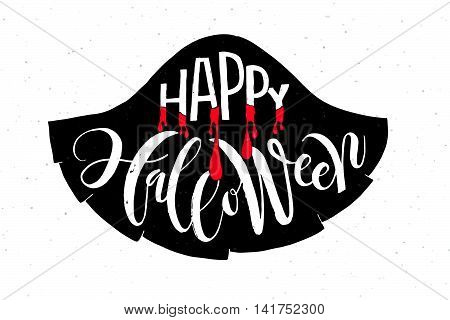 Happy Halloween Lettering Typography