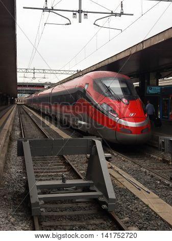 Frecciarossa High Speed Train In Rome