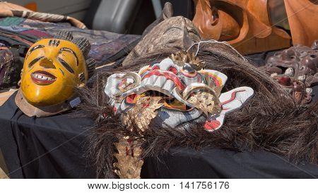 Ancient Masks In A Garage Sale