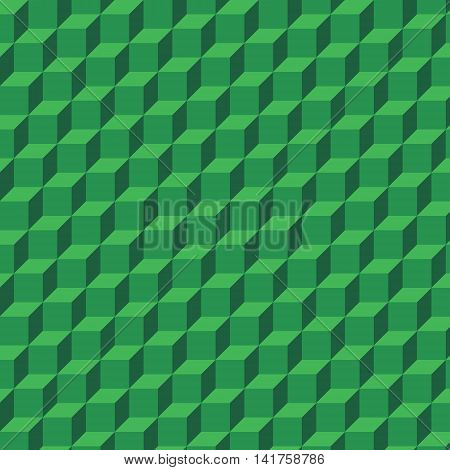 Green 3d geometrical background out of cubes. Can be used as background of webpage, banner background, etc.