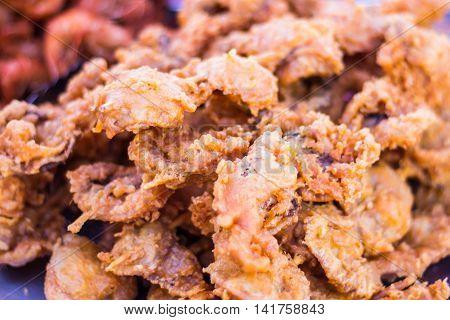 crisp fried calamari , food asia style