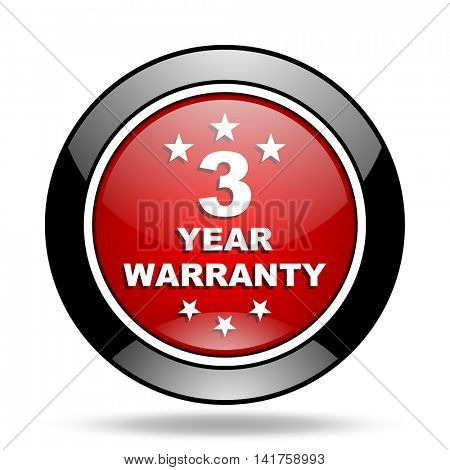 warranty guarantee 3 year icon