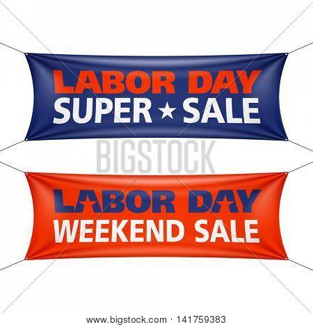 Labor Day Super Sale banner vector illustration