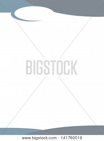 Grey Blue Wave Letterhead Template with Oval Logo
