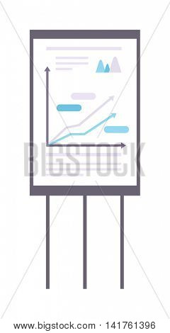 Whiteboard flipchart business presentation vector.
