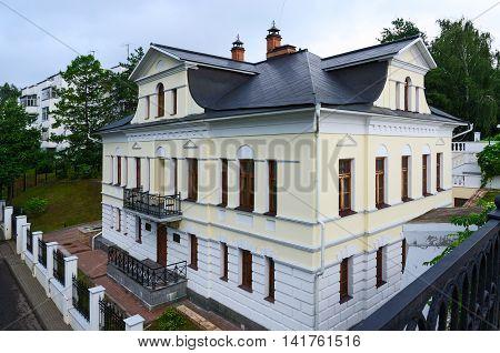 YAROSLAVL RUSSIA - JULY 21 2016: House of Bolkonsky Yaroslavl Russia
