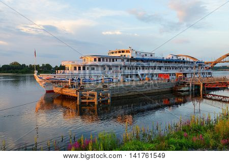 RYBINSK RUSSIA - JULY 21 2016: Cruise ship