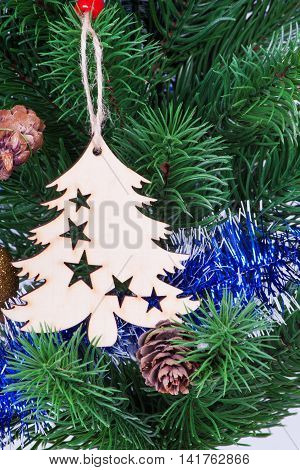 Christmas Toys On The Christmas Tree.