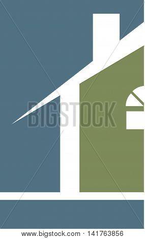 Professional Builder Realtor House Logo Template Blue Green